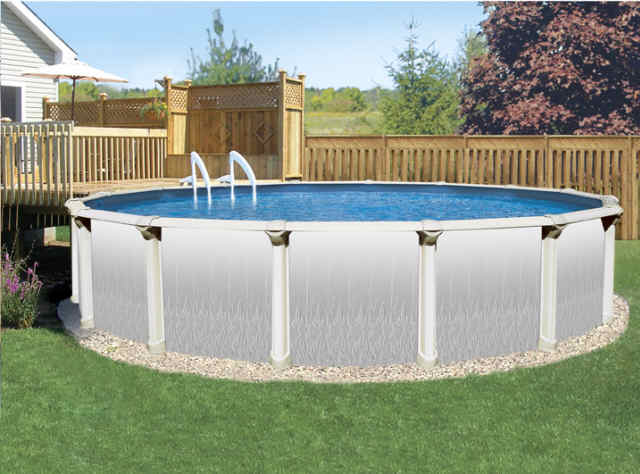 Above ground pools doughboy doughboy pools review for Above ground pool surround ideas