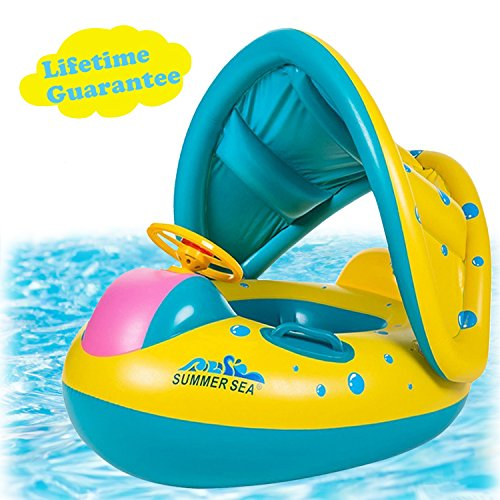 Punada Baby Pool Float With Canopy Inflatable Swimming